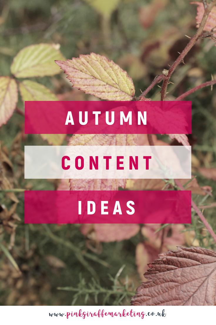 Autumn content ideas for social media marketing