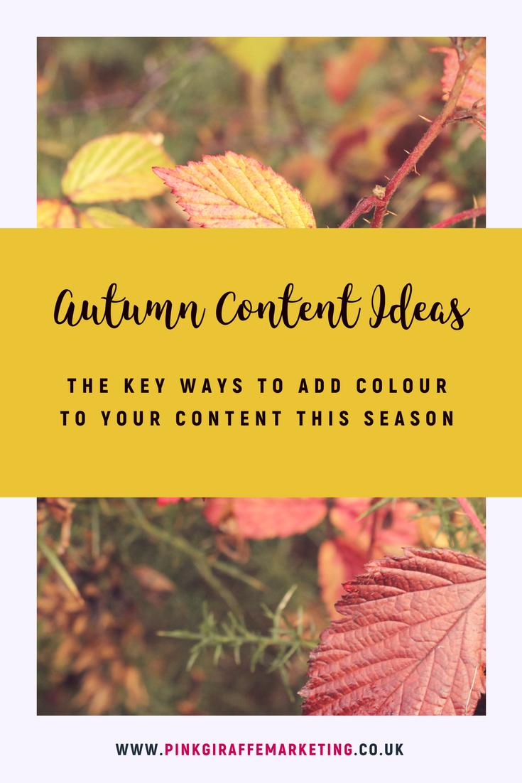 Autumn Content Inspiration for social media marketing