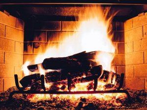 Autumn Content Ideas - Log Fire