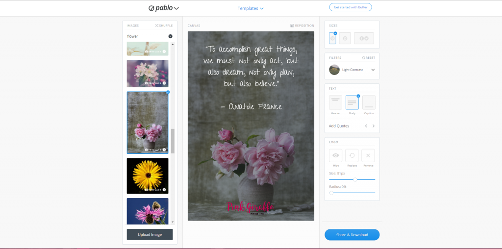 Creating social media graphics with Pablo by Buffer